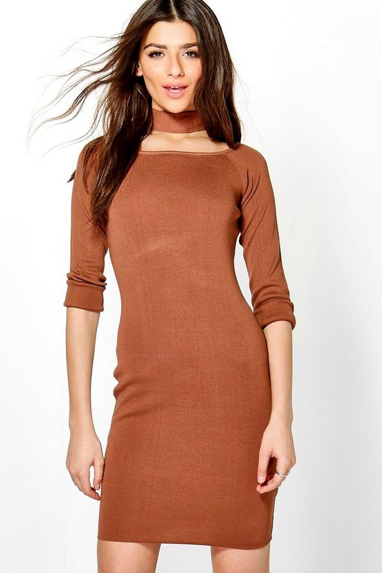 Freyja Choker Knit Dress
