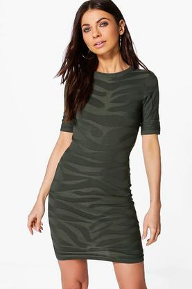 Alison Textured Long Sleeve Dress