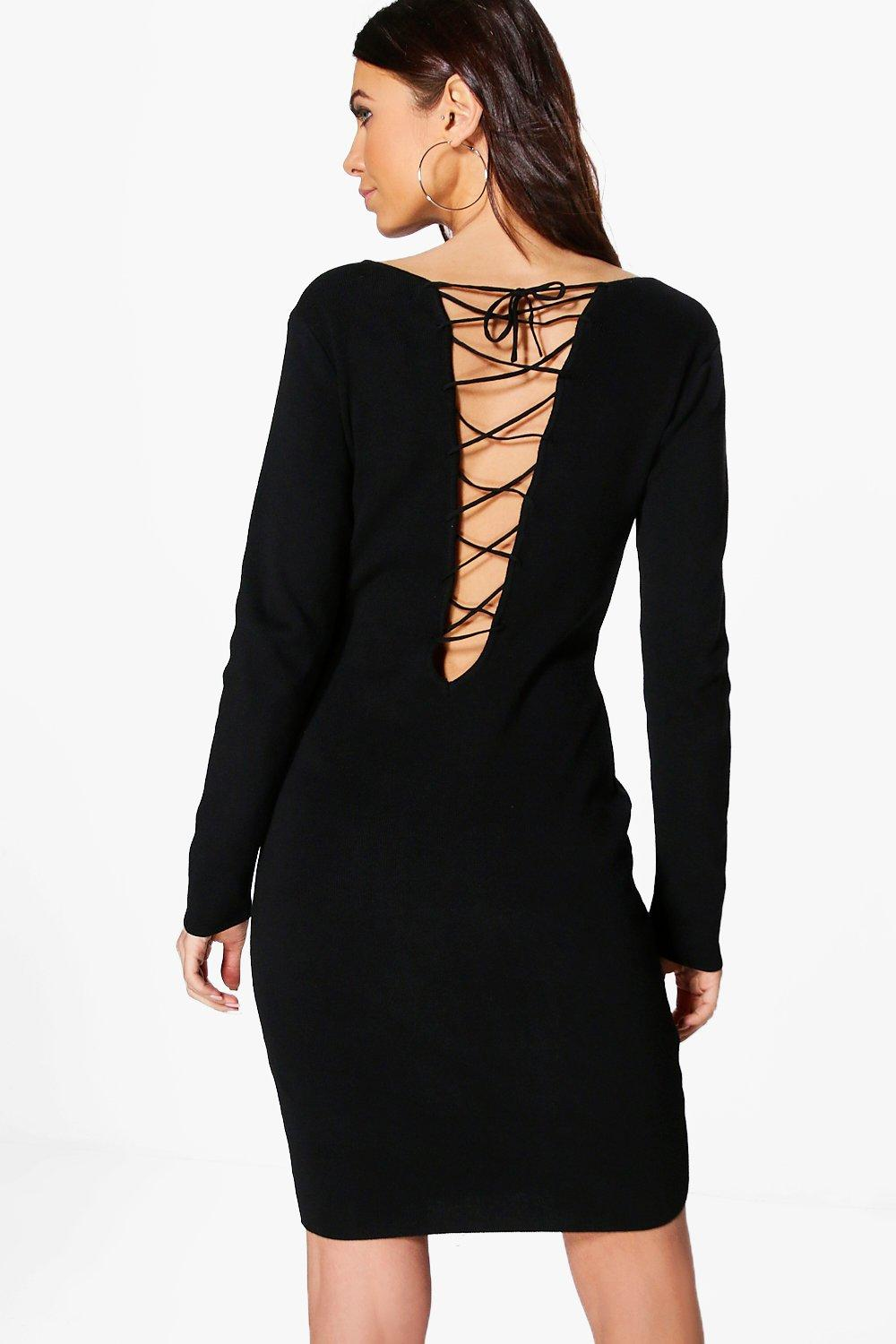 Rhona Lace Up Back Dress