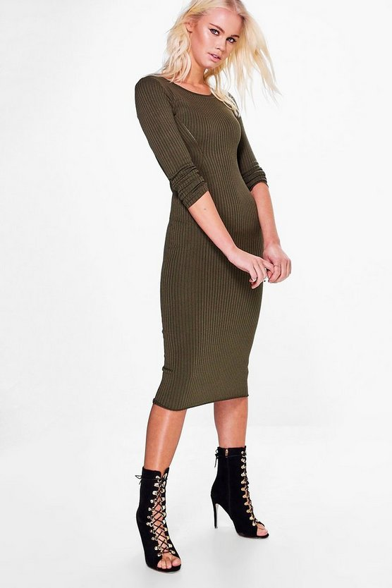 Avril Long Sleeve Midi Dress