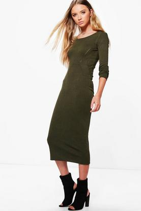Carmel Long Sleeve Midi Dress