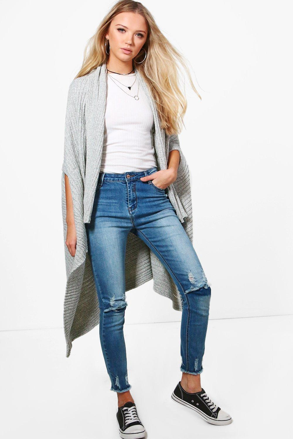 Gracie Waterfall Cardigan | Boohoo