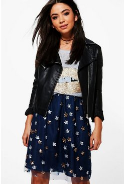 Savannah Embellished Sequin Star Skirt