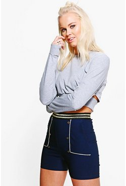 Eloise Button Detail Shorts