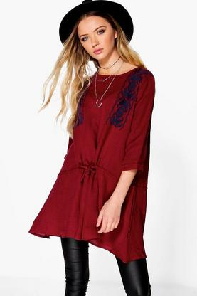 Eleanor Embroidered Chest Smock Top