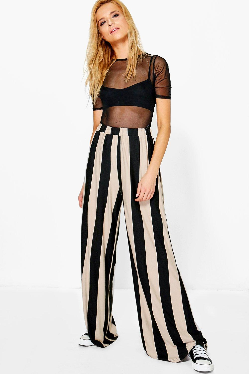 Abigail Stripe Wide Leg Trouser