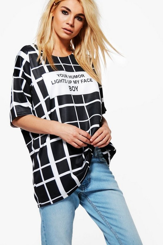 Clara Check Grid T-Shirt