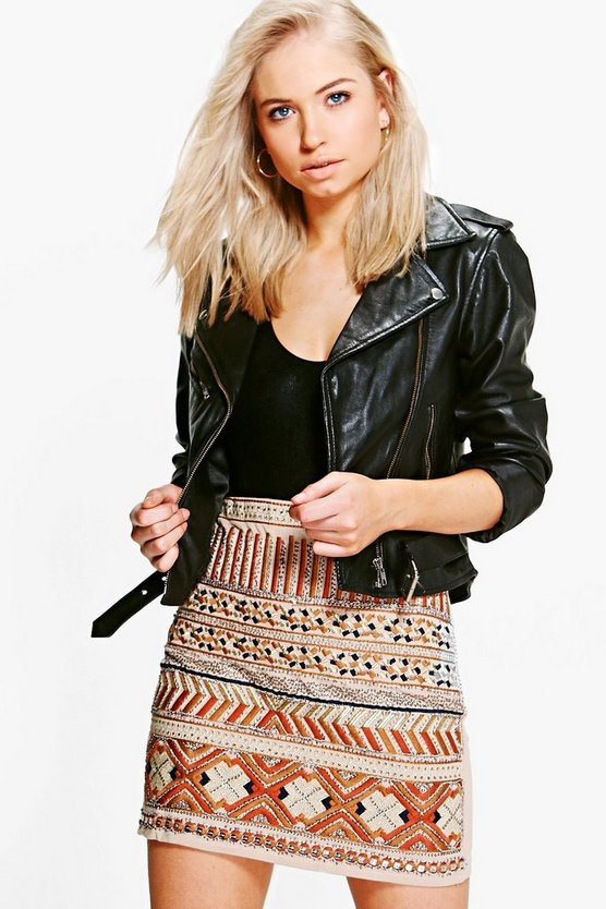 Annie Aztec Mini Skirt