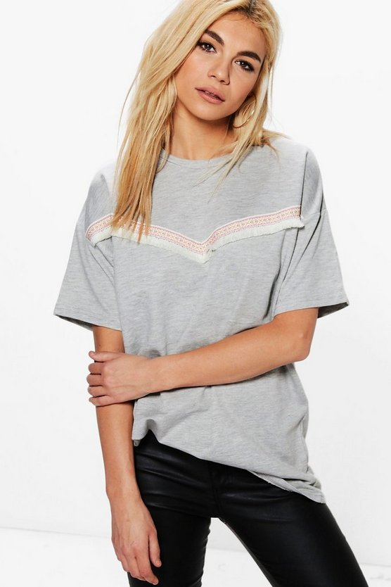 Nina Trim Detail T-Shirt