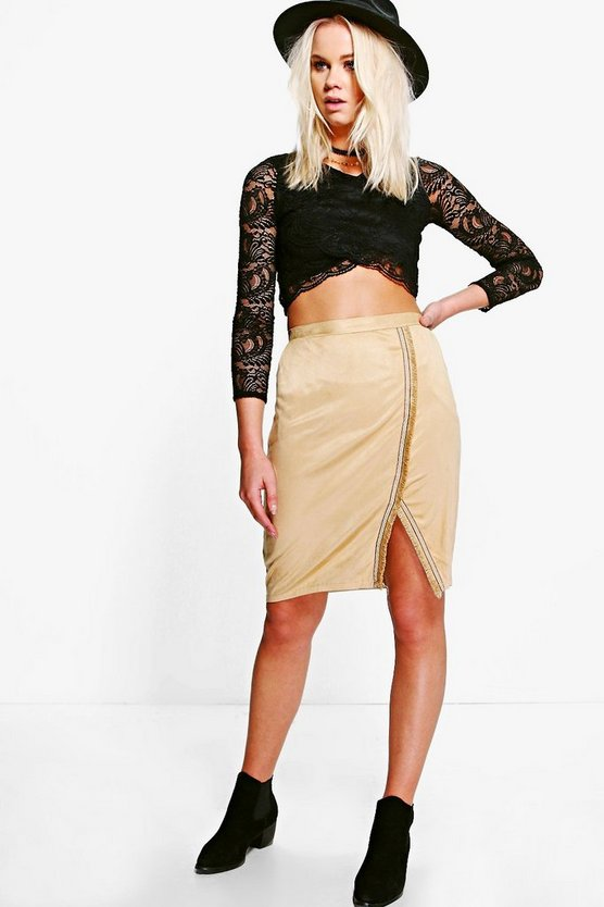 Nina Split Hem Mini Skirt