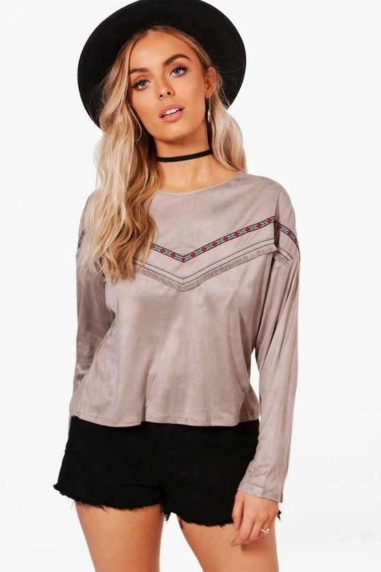 Katie Aztec Trim Top