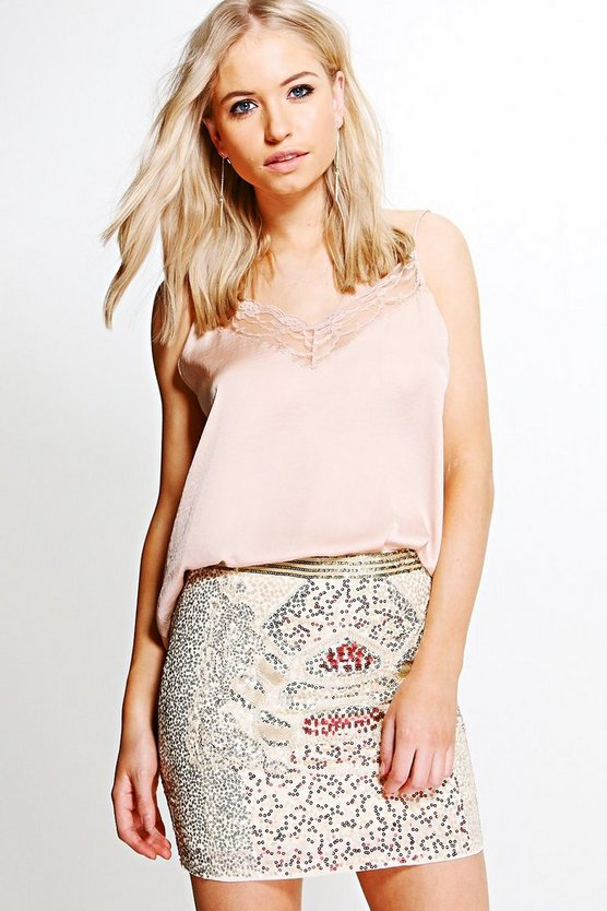 Maria Embellished Mini Skirt