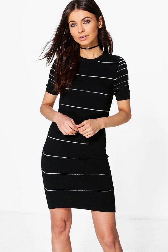 Ella Stripe Bodycon Dress