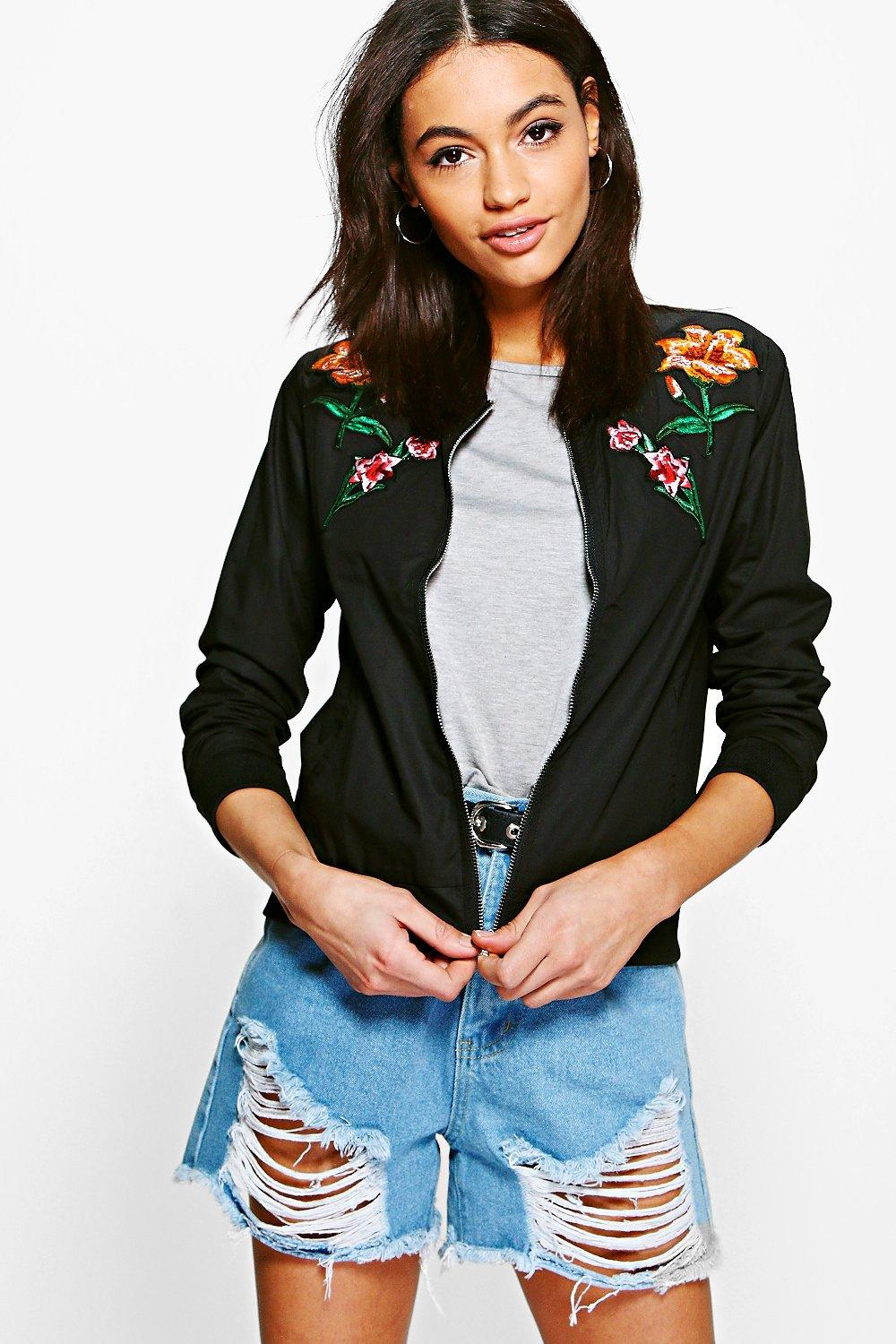 Harriet Floral Embroidered Bomber