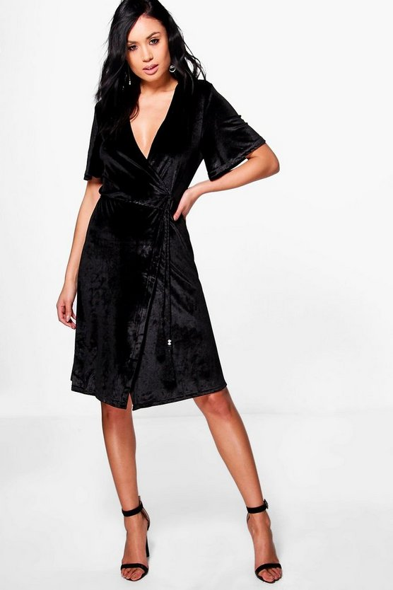 Lottie Velvet Wrap Dress