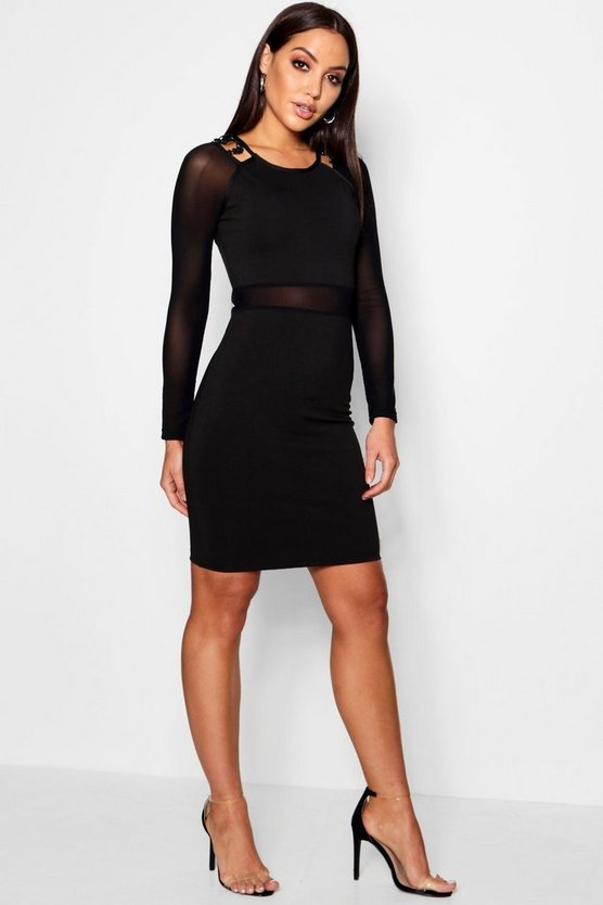 Faith Cut Out Neckline Dress