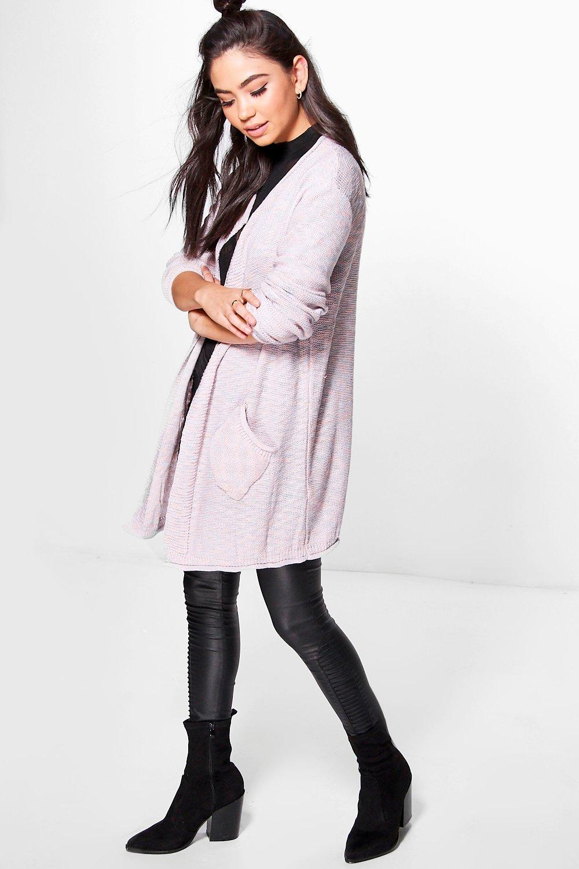 Marl Knit Cardigan  pink