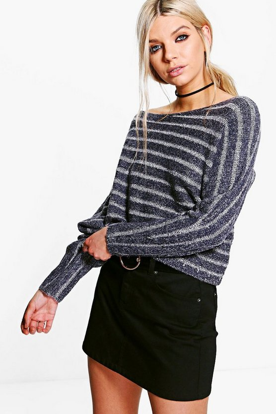 Diana Striped Asymmetric Jumper