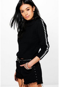 Katherine Lace Up Knit Jumper