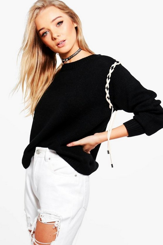 Emma Lace Up Jumper