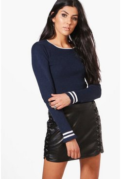 Emma Striped Knit Jumper