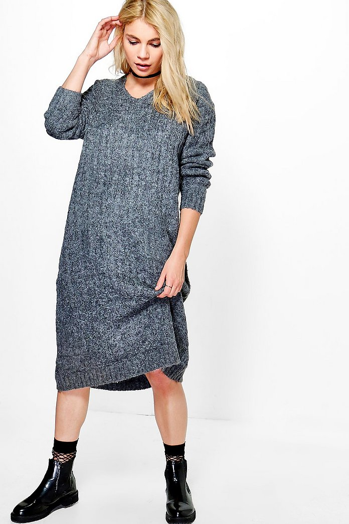 Alexis Hooded Knitted Dress
