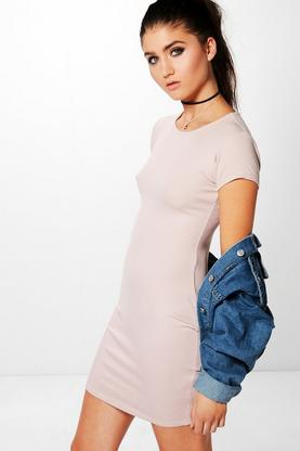 Paige Ribbed Cap Sleeve Bodycon Dress