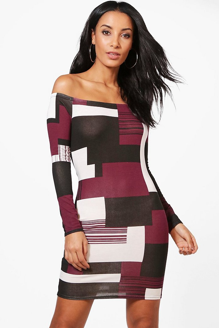 Maria Off Shoulder Bodycon Dress