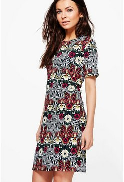 Lorraine Short Sleeve Shift Dress