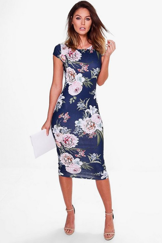 Nelly Floral Print Midi Dress