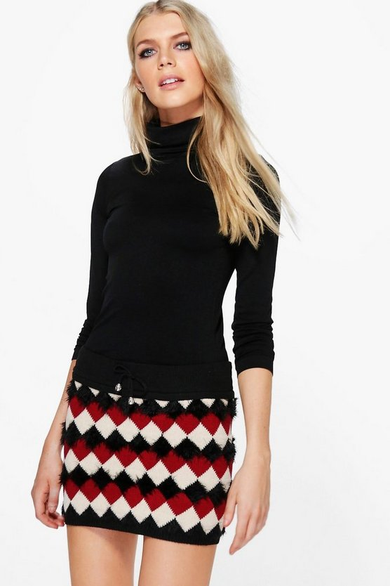 Sabina Knitted Stretch Mini Skirt