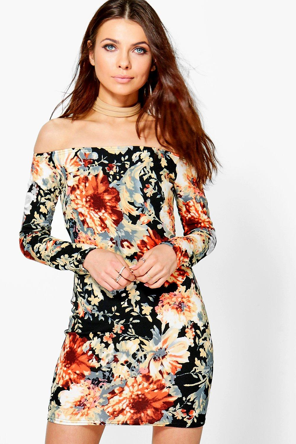 Katie Off Shoulder Bodycon Dress
