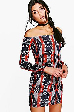 Emily Off Shoulder Bodycon Dress