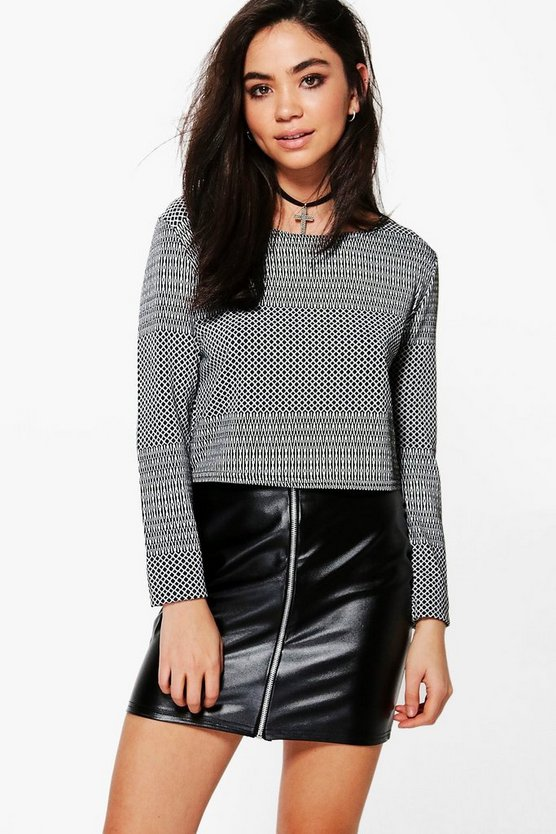 Selina Long Sleeve Crop Top