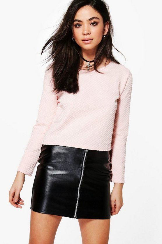 Laila Long Sleeve Crop Top