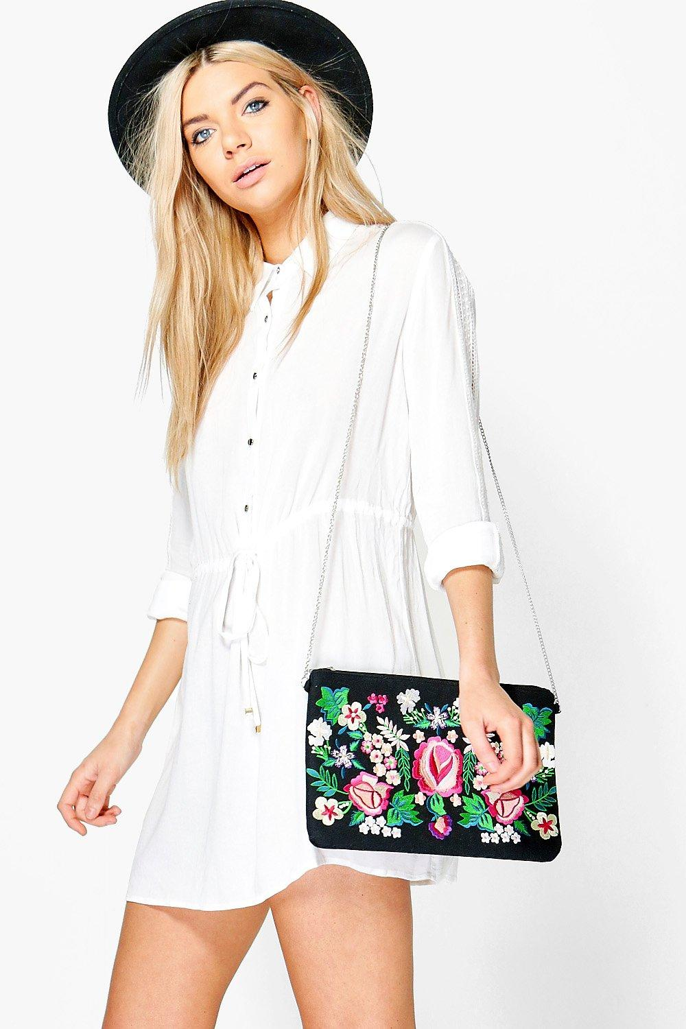 Lace Sleeve Belted Shirt Dress  white