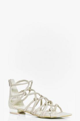 Harriet Caged Gladiator Flat Sandal