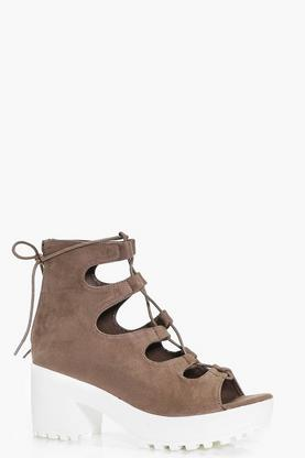 Paige Lace Up Cleated Sandal
