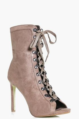 Taylor Peeptoe Lace Up Shoe Boot