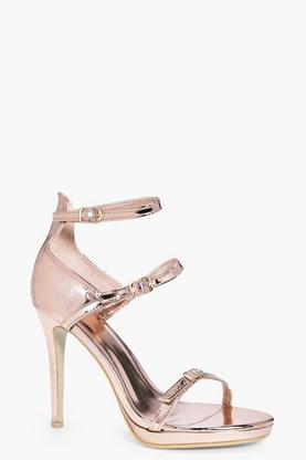 Lois Three Strap Barely There Heels