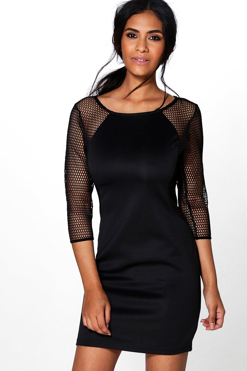 Deanna Mesh Sleeve Bodycon Dress