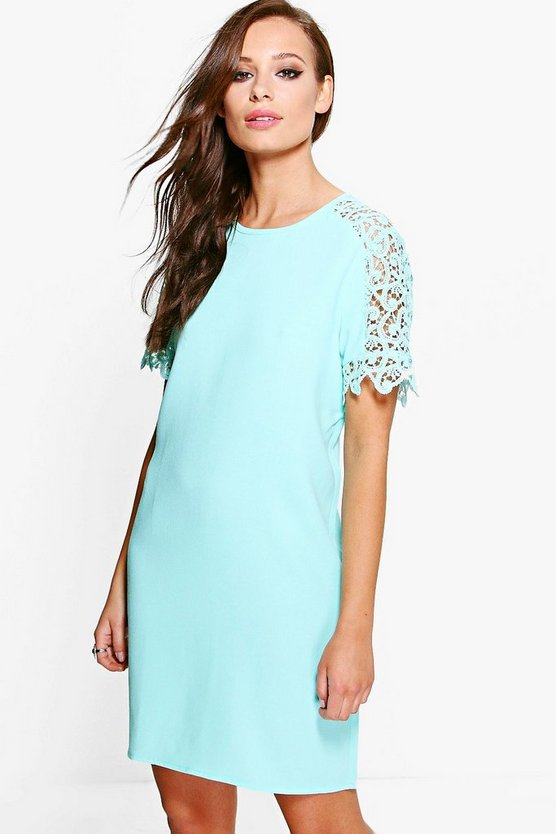 Monica Lace Sleeve Shift Dress