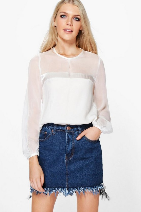 Sophie Satin Panel Blouse