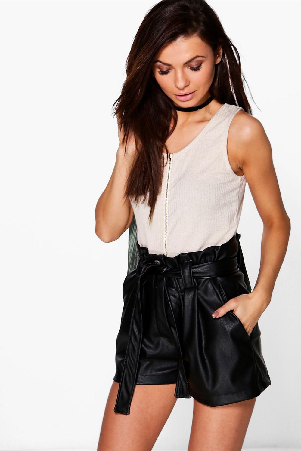 Zeena Ribbed Zip Front Crop Top