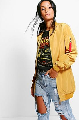 Bethany MA1 Bomber Jacket With Tape Detail