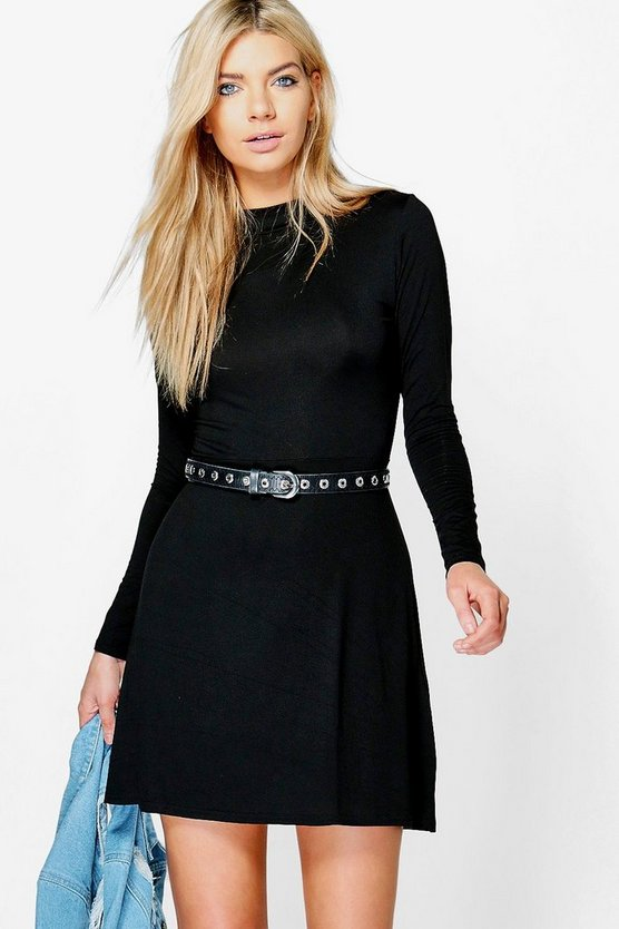 Penny Turtleneck Skater Dress