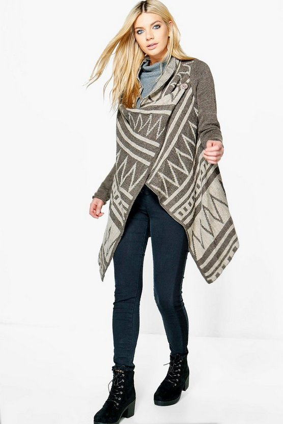 Eleanor Waterfall Aztec Cardigan