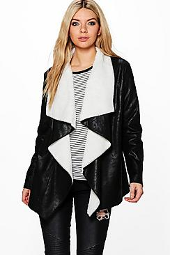 Ruby Waterfall Bonded Suedette Jacket