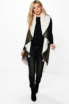Milly Waterfall Suedette & Borg Jacket