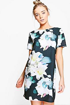 Willa Floral Cap Sleeve Shift Dress